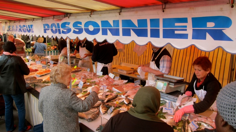 friday food market on the streets of our neighborhood near gare lyon
