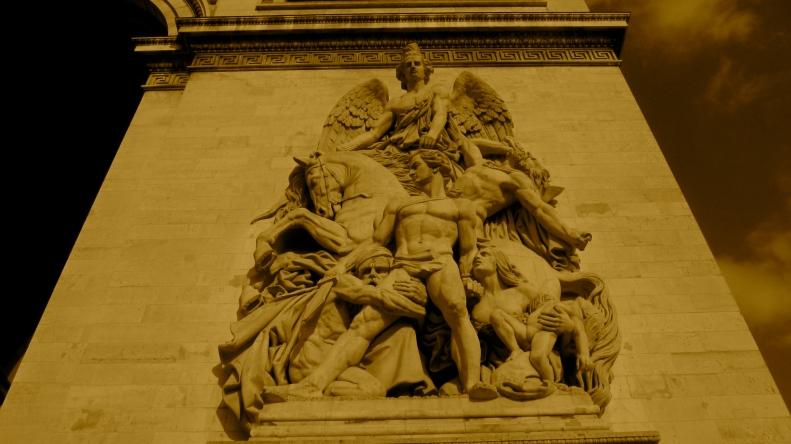 exterior of Arc de Triomphe